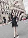 Платье из фатина расшитого пайеткой с расклешенной юбкой и верхом на запах 83plt1045, фото 3