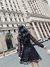 Платье из фатина расшитого пайеткой с расклешенной юбкой и верхом на запах 83plt1045, фото 4
