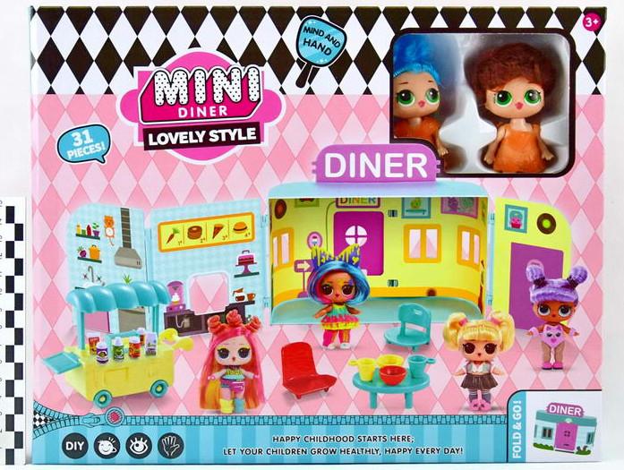 """Игровой набор \""""Куколки LOL OMG: Мини кафе с 2 куколками и аксессуарами\"""""""