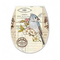 Крышка для унитаза Elif Декор Птичка 372
