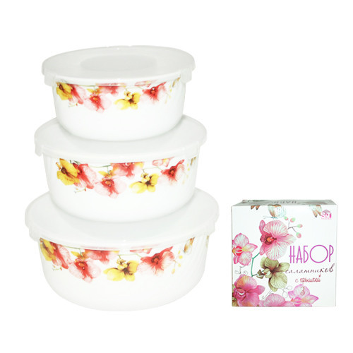 Набор салатников S&Т Орхидея 3шт 30053-006