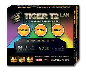 Т2 приставка - приемник цифровой DVB-T2 ресивер Tiger T2 Iptv Lan SKL31-220896
