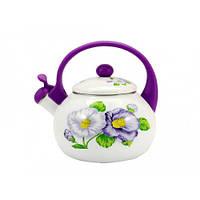 Чайник со свистком Interos Violet Handle 2,2л 16/L