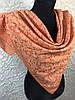 Оранжевый хлопковый платок с люреском №271 (цв 3)