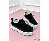 Сникерсы на шнуровке,толстой подошве, фото 3