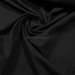 Ткань кулир без стрейча черный
