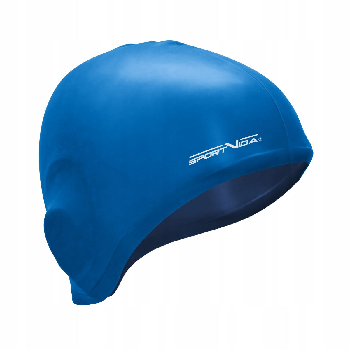 Шапочка для плавания безразмерна SportVida SV-DN0015 Blue 100% силикон синего цвета