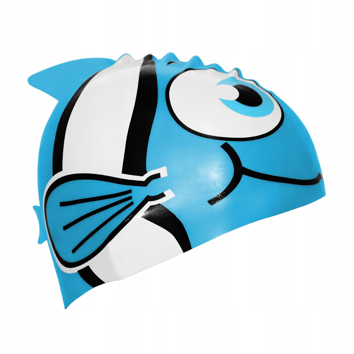 Шапочка для плавания детская безразмерная SportVida SV-DN0016JR Blue 100% силикон синего цвета