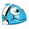 Шапочка для плавания детская безразмерная SportVida SV-DN0016JR Blue 100% силикон синего цвета, фото 3