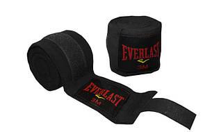 Бинты боксерские (2шт) хлопок с эластаном EVERLAST BO-3729-3 (l-3м,), фото 2