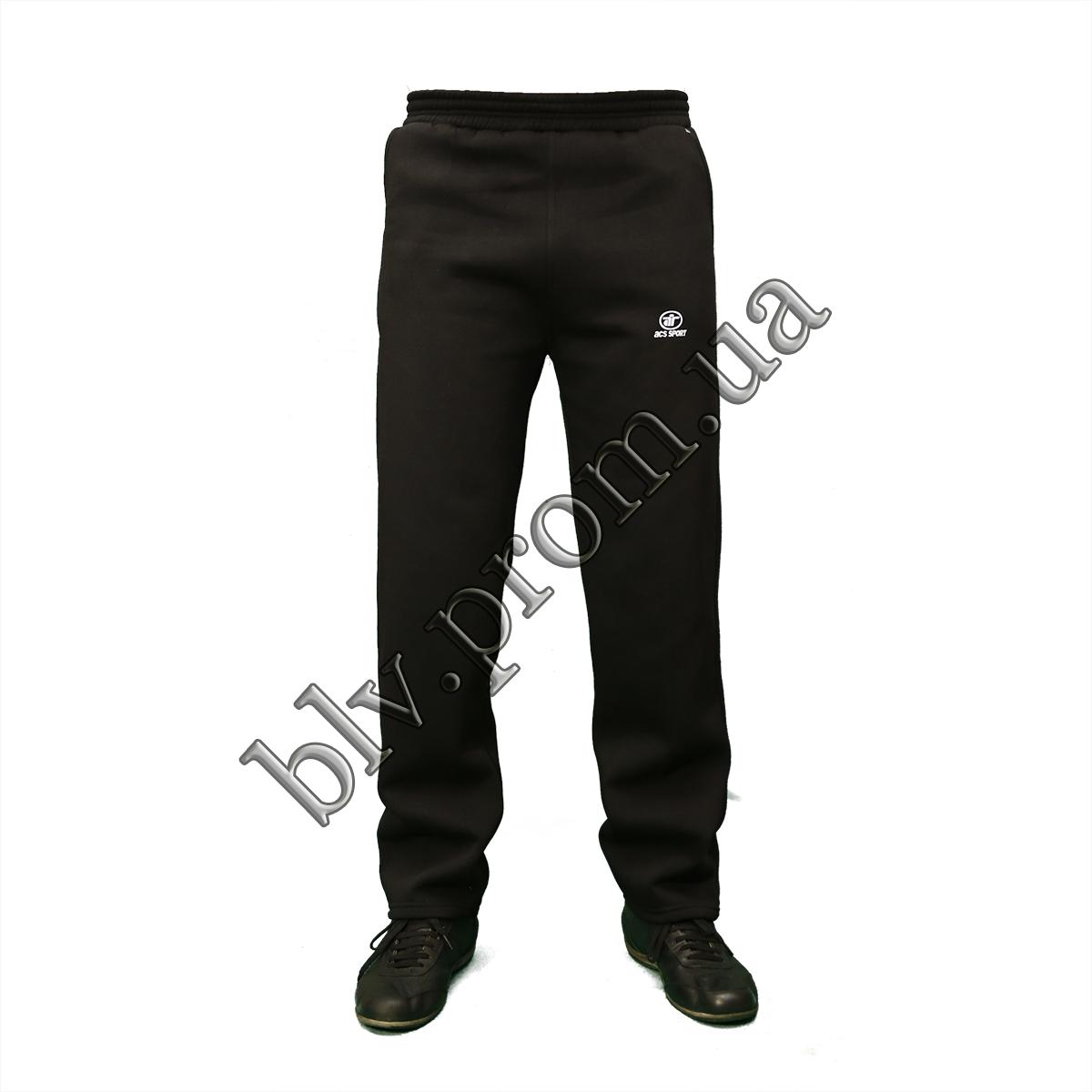 Теплые мужские брюки байка пр-во Турция KD759 Black