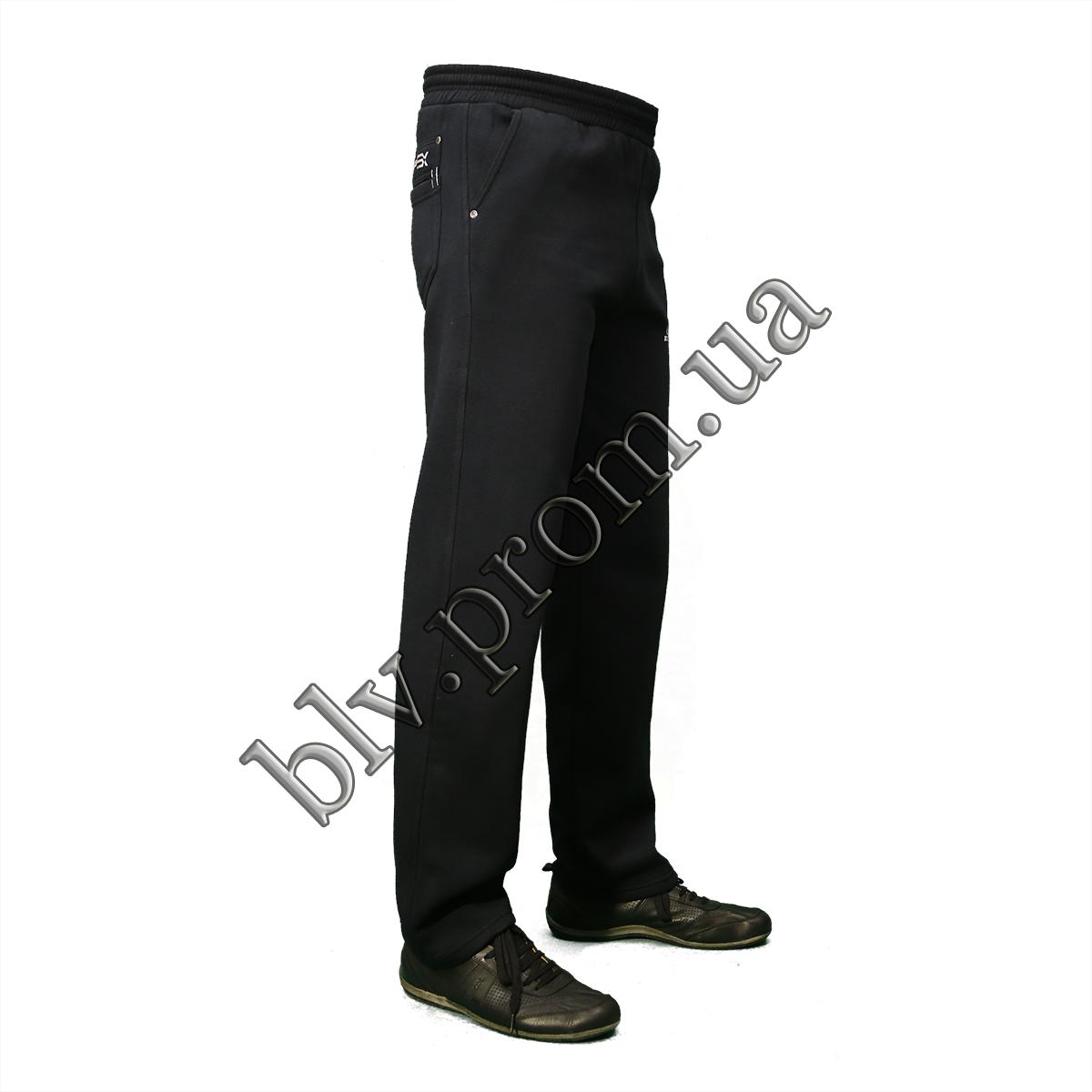 Теплые мужские брюки байка пр-во Турция KD759 Dark blue