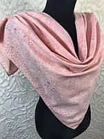 Персиковый хлопковый платок с люреском №271 (цв 5), фото 1