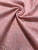 Персиковый хлопковый платок с люреском- купить на Kosinka.net