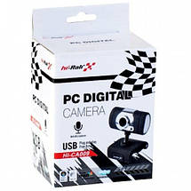 Веб-камера Hi-Rali HI-CA009, вебкамера і мікрофон для Zoom, Viber, Skype, фото 3