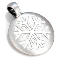 Круглый кулон Снегопад Bico Snow Falling 28 мм 175727