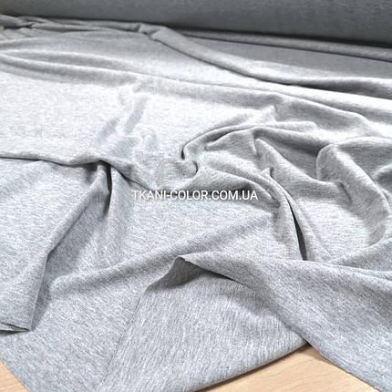 Трикотаж вискоза плотная светло-серая, фото 2