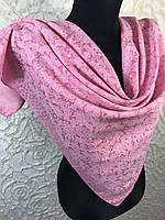 Розовый хлопковый платок с люреском №271 (цв.10)