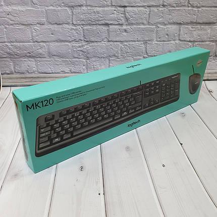 Проводные Клавиатуры  Logitech MK120, фото 2