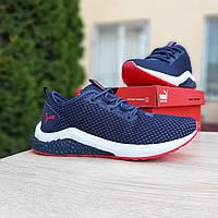 Мужские кроссовки в стиле Puma Hybrid синие с красным