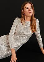 Платье, расшитое пайетками MANGO