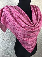 Малиновый хлопковый платок с люреском №271 (цв.12)
