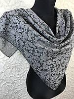 Серый хлопковый платок с люреском №271 (цв.4)