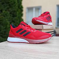 Мужские кроссовки в стиле Adidas  Nova Run красные, фото 1