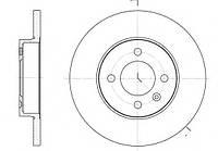 Тормозной диск передний VW CADDY II(-2004г),GOLF III(-1997г),PASSAT (-1996г),пр-во ABE C3T011ABE , фото 1