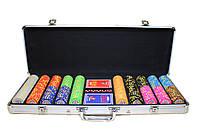 """Набор для покера """"Texas Holdem Poker"""" 500 фишек с номиналом, фото 2"""