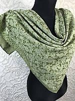 Зеленый хлопковый платок с люреском №271 (цв.9)