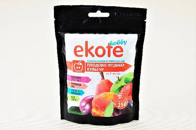 Удобрение Ekote для плодово-ягодных культур 3-4 месяца, 250 г - Экотэ - удобрение длительного действия