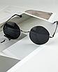 Солнцезащитные очки круглые стеклянные черные унисекс гарри поттера очки лепса джона ленона, фото 6