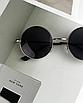 Солнцезащитные очки круглые стеклянные черные унисекс гарри поттера очки лепса джона ленона, фото 10