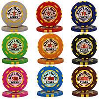 """Набор для покера """"Texas Holdem Poker"""" 500 фишек с номиналом, фото 3"""