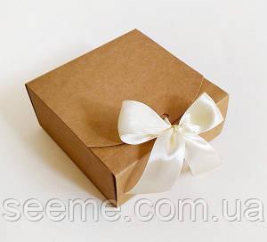 Коробка подарочная из крафт картона,115х115х50 мм