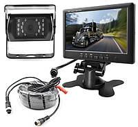 """Камера  IR15m. 12-32v IP67 с монитором 7"""" Caravan заднего вида для грузовиков"""