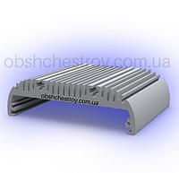 Алюминиевый профиль радиатор для светодиодного освещения 146х43 Анод