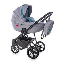 Детская коляска универсальная 3 в 1 Broco Avenue 08 серый/мятный (Броко, Польша)