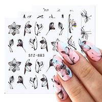 Наклейки на дизайну нігтів