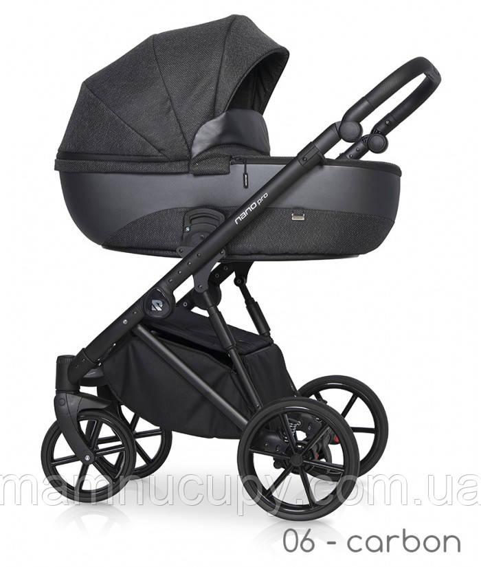 Детская универсальная коляска 2 в 1 Riko Nano Pro 06 Carbon