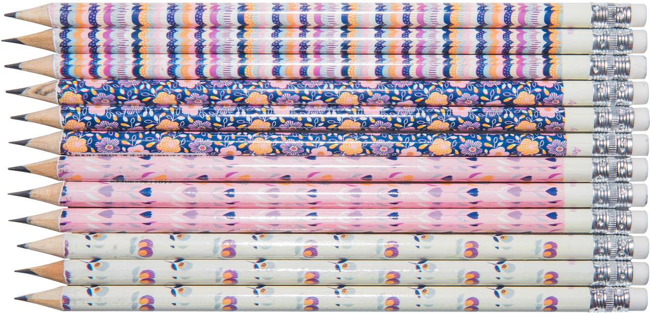 """Набор карандашей чернографитных """"Pink Angel Notes"""" HB 60 шт, Malevaro"""
