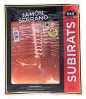 Хамон нарезка SUBIRATS JAMON SERRANO  без глютена, 250г  Испания