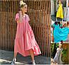 Р 42-52 Вільний лляну сукню нижче коліна Батал 21289-1