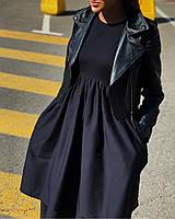 Стильное платье с двумя юбками и карманами(42-46), фото 1