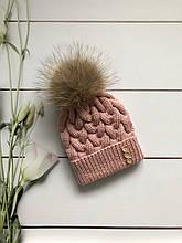 Вязаная шапка. Ручная вязка.