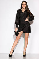Изящное вечернее платье 120POI19068 (Черный)