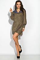 Изящное вечернее платье 120POI19068 (Бронзовый)