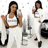 Женский спортивный костюм тройка / двунитка / Украина 24-1336, фото 4