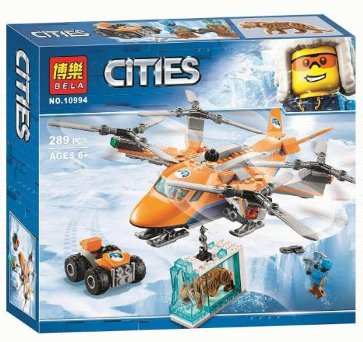 Конструктор Bela City Сити Арктический вертолёт Арктическая экспедиция 289 деталей